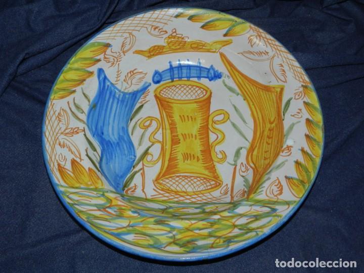 (M) ANTIGUO PLATA DE RIBESALBES - 35 CM, BUEN ESTADO DE CONSERVACIÓN (Antigüedades - Porcelanas y Cerámicas - Ribesalbes)