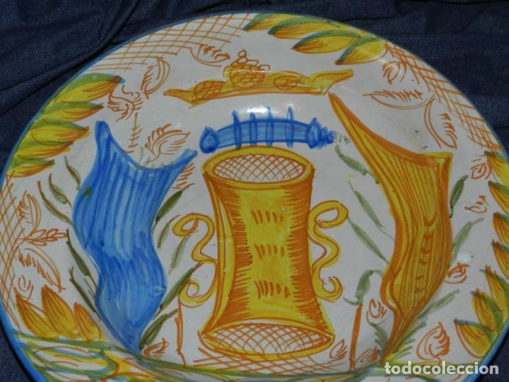 Antigüedades: (M) ANTIGUO PLATA DE RIBESALBES - 35 CM, BUEN ESTADO DE CONSERVACIÓN - Foto 3 - 217212780