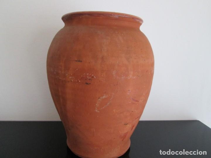 ORZA DE BARRO COCIDO 29 CENTIMETROS DE ALTO 12 DE BOCA 70 DE DIAMETRO (Antigüedades - Porcelanas y Cerámicas - Otras)