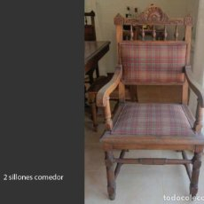 Antigüedades: 2 SILLONES DE COMEDOR. Lote 217216621