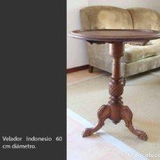 Antigüedades: VELADOR INDONESIO 60 CM DIÁMETRO. Lote 217218615