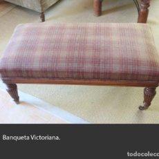 Antigüedades: BANQUETA VICTORIANA. Lote 217219156
