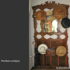 Antigüedades: PERCHERO ANTIGUO. Lote 217221972