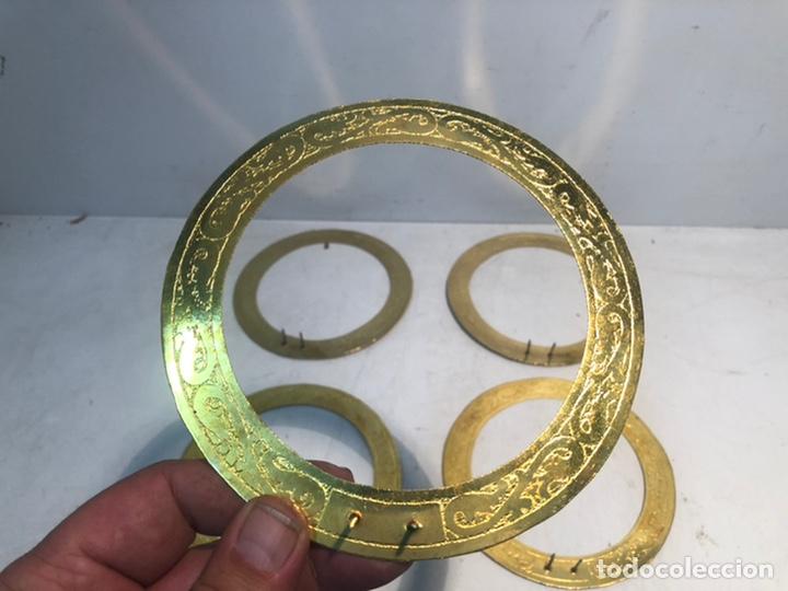 Antigüedades: LOTE DE CINCO CORONAS DE LATON PARA IMAGENES RELIGIOSAS. 14CM - Foto 2 - 217243381