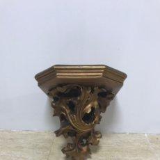 Antiquités: PEANA MÉNSULA DE ESCAYOLA LACADA COLOR COBRIZO. SEGUNDA MITAD DEL SIGLO XX. Lote 217248077
