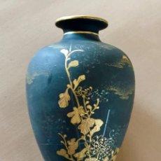 Antigüedades: FLORERO XING GUANG SHAN PORCELANA DE TAIWAN JARRON PINTADO COLOR ORO VINTAGE. Lote 217256520