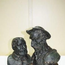 Antigüedades: ANTIGUO BUSTO DE ESCAYOLA DON QUIJOTE Y SANCHO PANZA. Lote 217268516