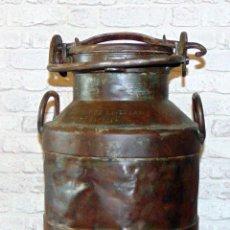 Antigüedades: LECHERA HIERRO, RESTAURADA, 20 LITROS CAPACIDAD, MARQUES DE CASTELAR, EL ESPINAR,60 CM. Lote 217307593