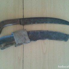 Antigüedades: ANTIGUO SERRUCHO CON FUNDA DE PIEL. Lote 217375487