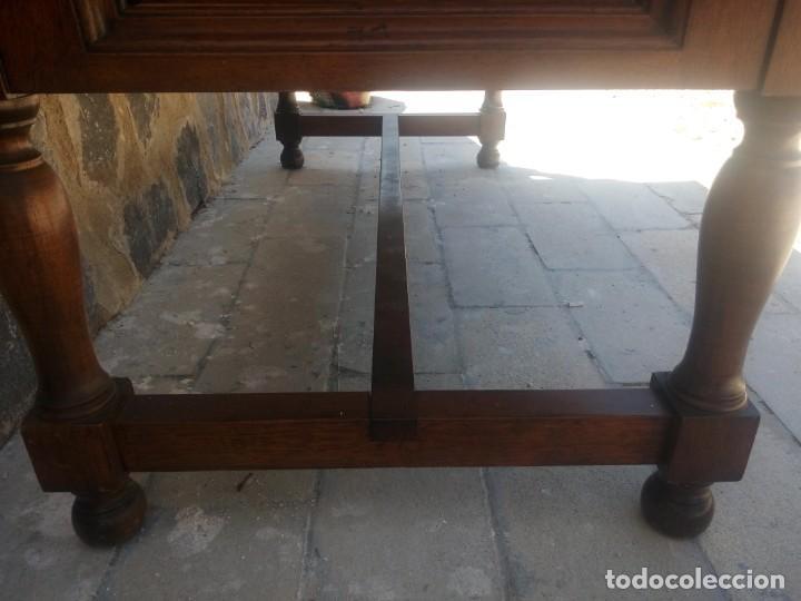 Antigüedades: Precioso escritorio de dos caras de madera de roble macizo,5 cajones. - Foto 7 - 217403882
