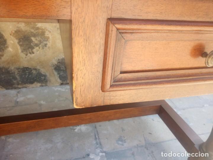 Antigüedades: Precioso escritorio de dos caras de madera de roble macizo,5 cajones. - Foto 9 - 217403882