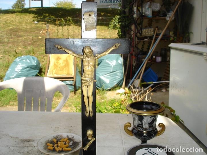 Antigüedades: muy bonito cristo jansenista en marfil siglo XVIII finales o XIX principios - Foto 4 - 217437101