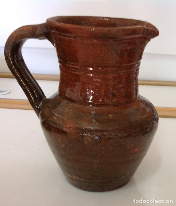 Antigüedades: Jarrita, ceramica de Alcora, vidriado rústico, 15x14x10 cm. - Foto 2 - 217438087