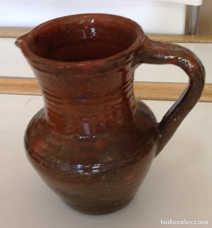 Antigüedades: Jarrita, ceramica de Alcora, vidriado rústico, 15x14x10 cm. - Foto 3 - 217438087
