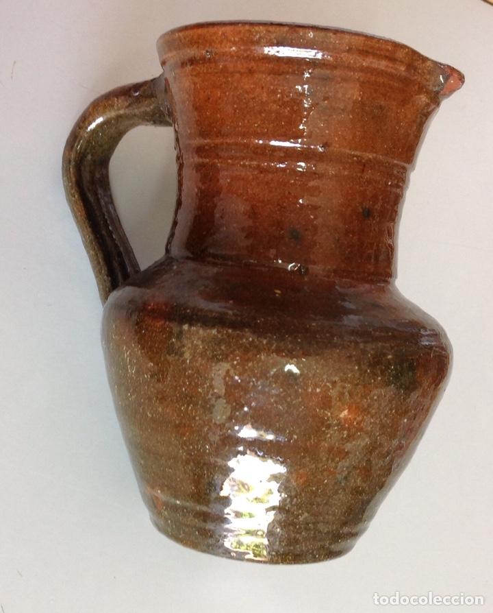 JARRITA, CERAMICA DE ALCORA, VIDRIADO RÚSTICO, 15X14X10 CM. (Antigüedades - Porcelanas y Cerámicas - Alcora)