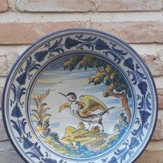 Antigüedades: 2 ) PLATO EN CERAMICA DE TALAVERA ( TOLEDO ) - PINTOR Y ACUARELISTA : CARLOS GARRIDO SOBRINO.. Lote 217438273