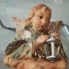Antigüedades: ANTIGUO ÁNGEL DE LA GUARDA ESCAYOLA. Lote 217477098