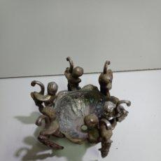 Antigüedades: BONITA PIEZA DE BRONCE PARA LÁMPARA VOTIVA. LEER BIEN DESCRIPCIÓN.. Lote 217493736