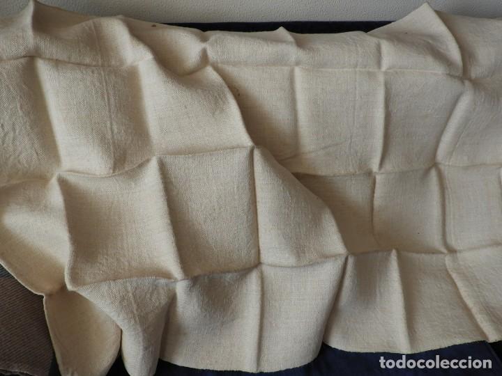 Antigüedades: SABANA DE CAÑAMO ANTIGUA 220 X 90 CM - Foto 2 - 217501995