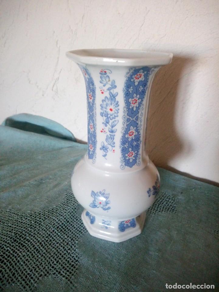PRECIOSO JARRON DE PORCELANA FINE CHINA LICHTE MADE IN GDR (Antigüedades - Porcelana y Cerámica - Alemana - Meissen)