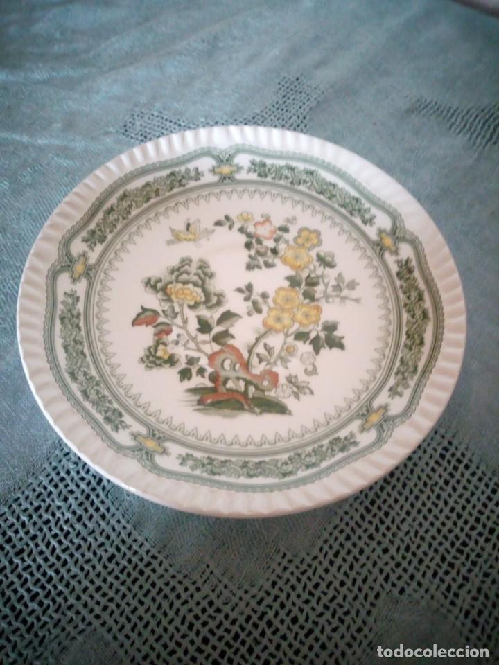 BONITO PLATO DE POSTRE DE PORCELANA SAN CLAUDIO MODELO KANTONG (Antigüedades - Porcelanas y Cerámicas - San Claudio)