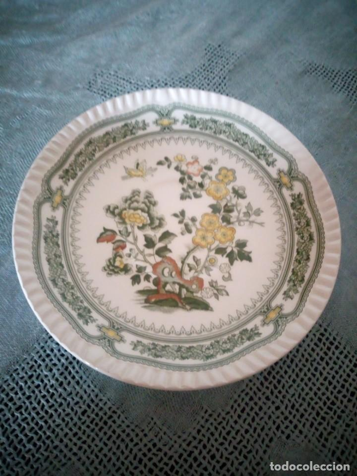 Antigüedades: Bonito plato de postre de porcelana san claudio modelo kantong - Foto 2 - 233829050
