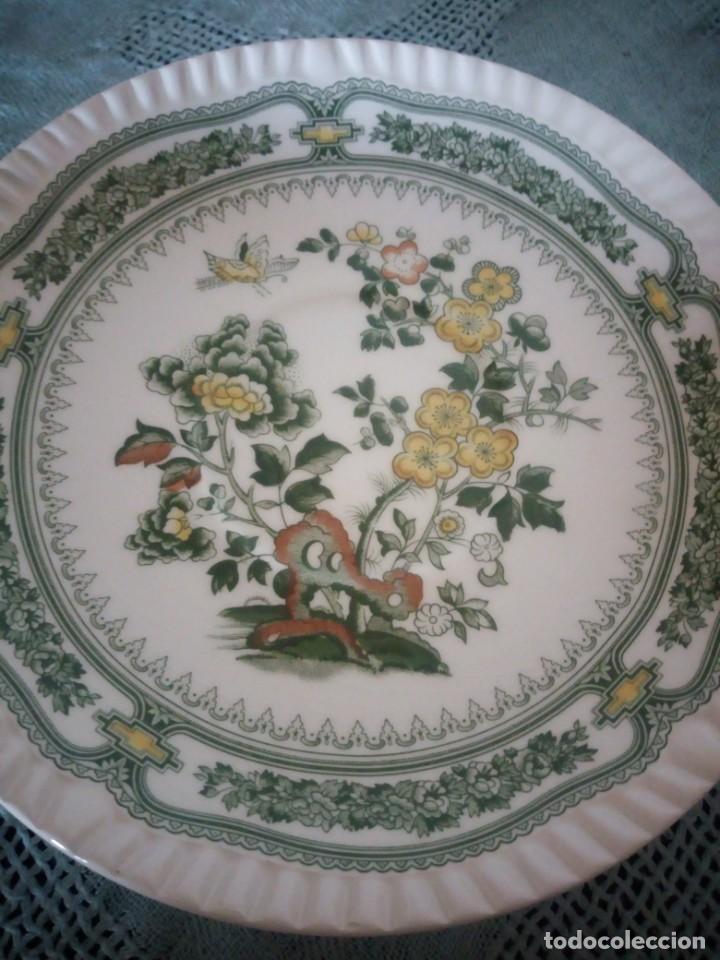Antigüedades: Bonito plato de postre de porcelana san claudio modelo kantong - Foto 3 - 233829050