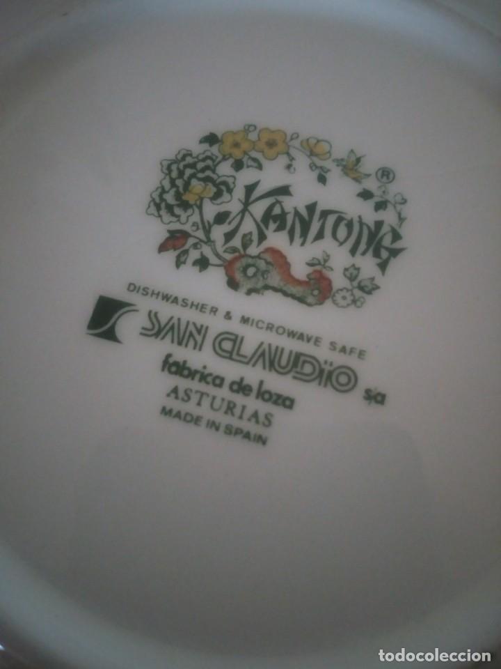 Antigüedades: Bonito plato de postre de porcelana san claudio modelo kantong - Foto 4 - 233829050