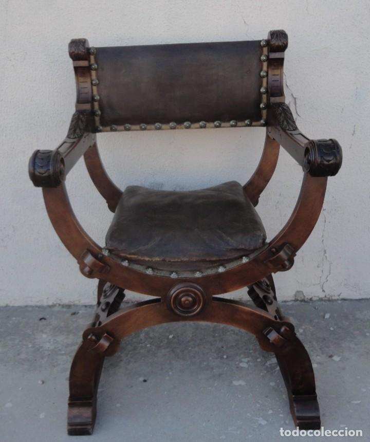 Antigüedades: Jamuga antigua en madera de nogal tallado - Foto 2 - 217518103