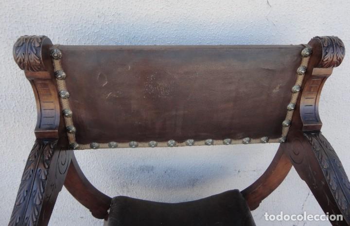 Antigüedades: Jamuga antigua en madera de nogal tallado - Foto 6 - 217518103