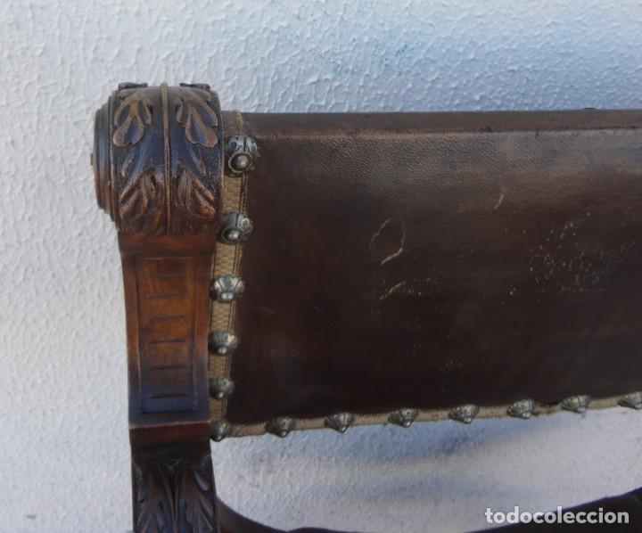 Antigüedades: Jamuga antigua en madera de nogal tallado - Foto 7 - 217518103