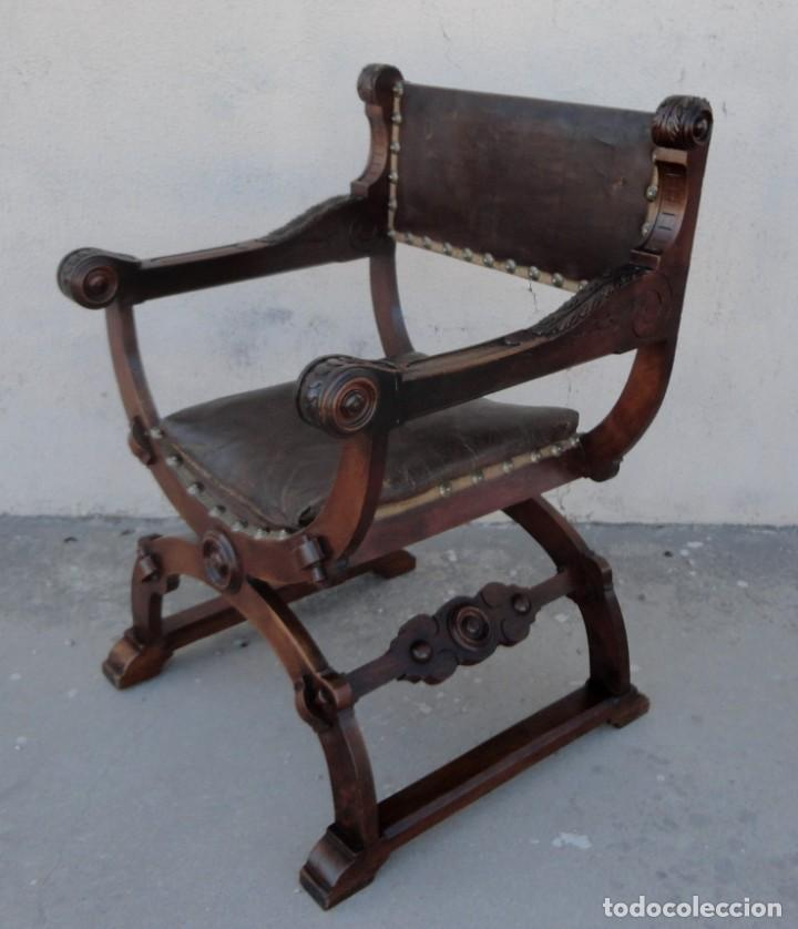 Antigüedades: Jamuga antigua en madera de nogal tallado - Foto 8 - 217518103
