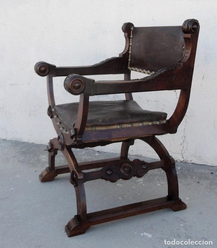 Antigüedades: Jamuga antigua en madera de nogal tallado - Foto 11 - 217518103