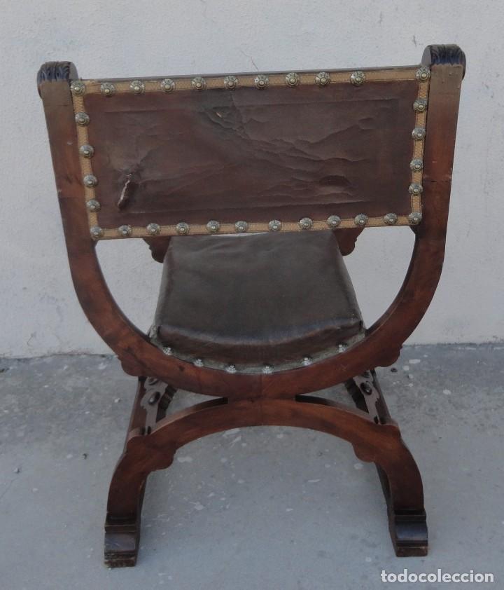 Antigüedades: Jamuga antigua en madera de nogal tallado - Foto 13 - 217518103