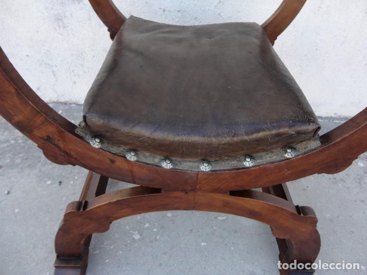 Antigüedades: Jamuga antigua en madera de nogal tallado - Foto 14 - 217518103