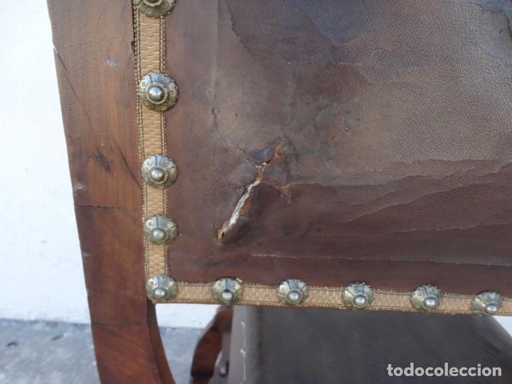 Antigüedades: Jamuga antigua en madera de nogal tallado - Foto 15 - 217518103