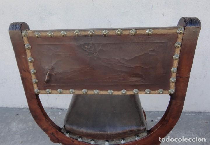 Antigüedades: Jamuga antigua en madera de nogal tallado - Foto 16 - 217518103