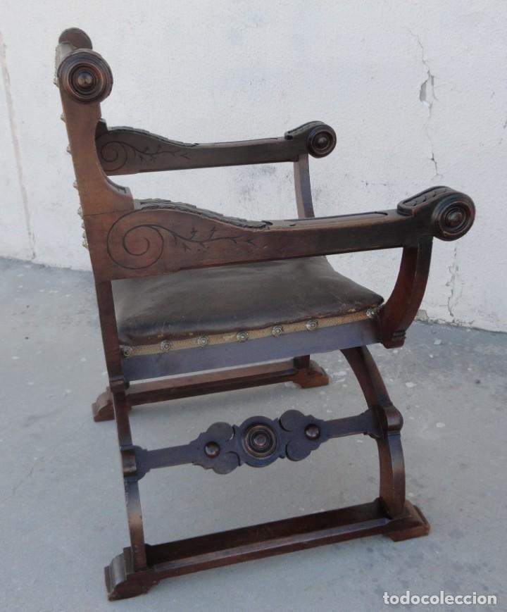 Antigüedades: Jamuga antigua en madera de nogal tallado - Foto 17 - 217518103