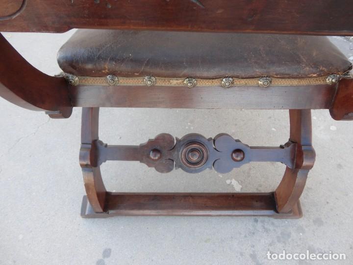 Antigüedades: Jamuga antigua en madera de nogal tallado - Foto 18 - 217518103