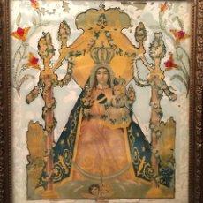 Antigüedades: LÁMINA RELIGIOSA VINTAGE VIRGEN ENMARCADA. Lote 217519096