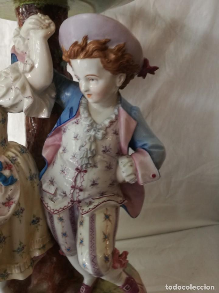 Antigüedades: GRAN FRUTERO DE PORCELANA CENTROEUROPEA. - Foto 5 - 217522485