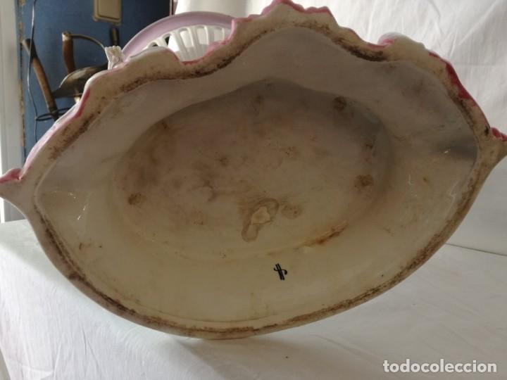 Antigüedades: GRAN FRUTERO DE PORCELANA CENTROEUROPEA. - Foto 8 - 217522485