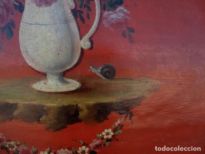 Antigüedades: Cama antigua de Olot, tallada y policromada de 120 - Foto 7 - 217523166