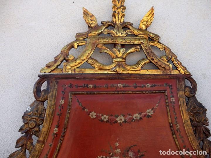 Antigüedades: Cama antigua de Olot, tallada y policromada de 120 - Foto 9 - 217523166