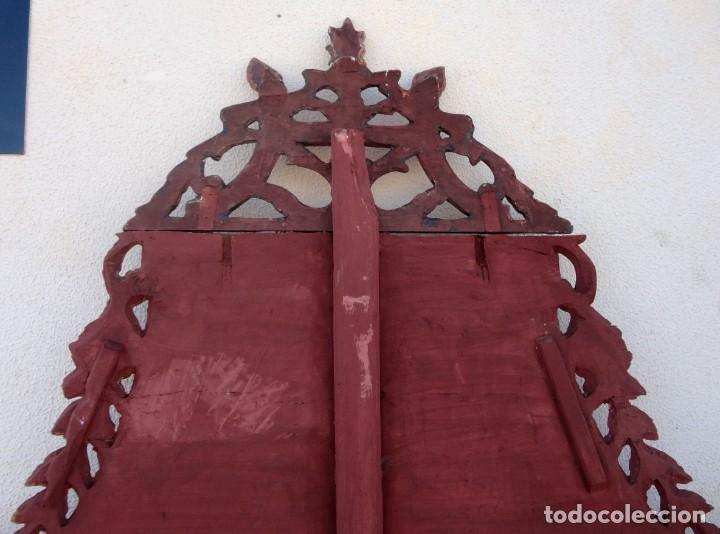 Antigüedades: Cama antigua de Olot, tallada y policromada de 120 - Foto 13 - 217523166