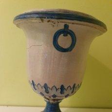 Antigüedades: JARRON MACETERO REALIZADO EN CERÁMICA TRIANA (SEVILLA). Lote 217532863