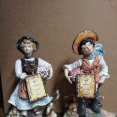 Antigüedades: PAREJA DE FIGURAS CAPODIMONTE.. Lote 217544316