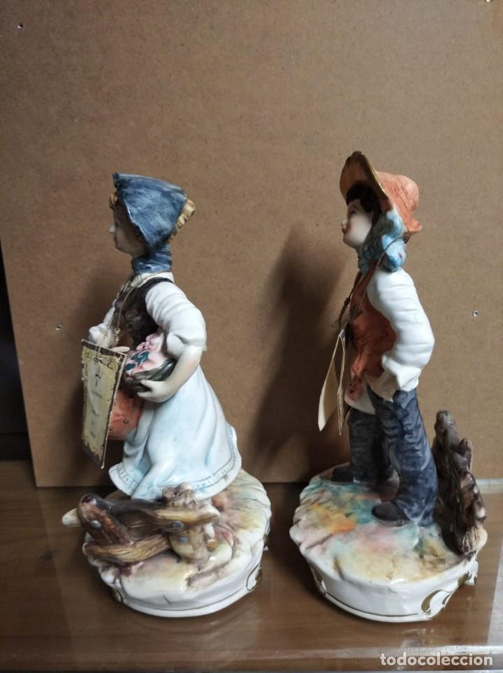Antigüedades: Pareja de figuras Capodimonte. - Foto 4 - 217544316