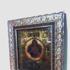Antigüedades: IMPONENTE RELICARIO CON 14 RELIQUIAS. SIGLO XVII. BORDADO EN ORO. EXTRAORDINARIA ELABORACIÓN.. Lote 217561282