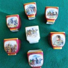 Antigüedades: CONJUNTO VASITOS DE COGNAC DE LIMOGES. Lote 217587812